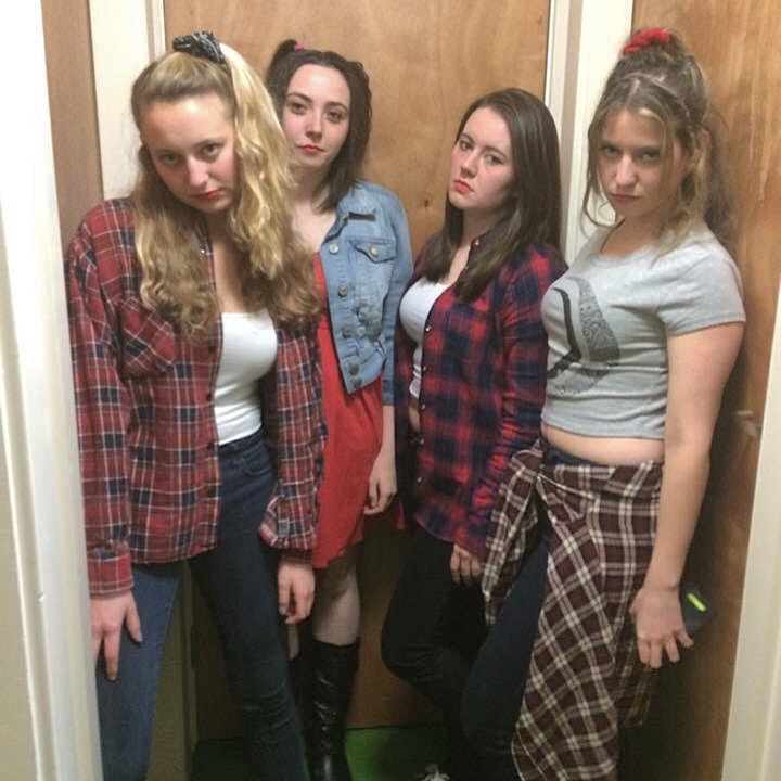 We are a 90s punk rock girl band called
