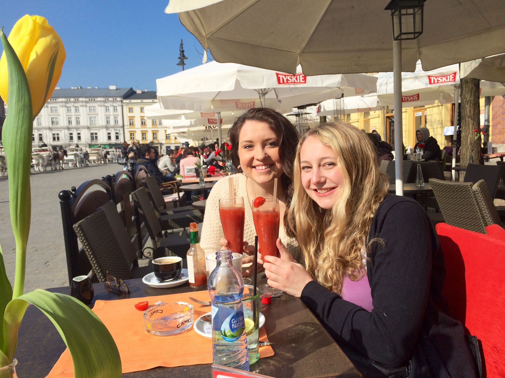 Bloody Marys on the main square