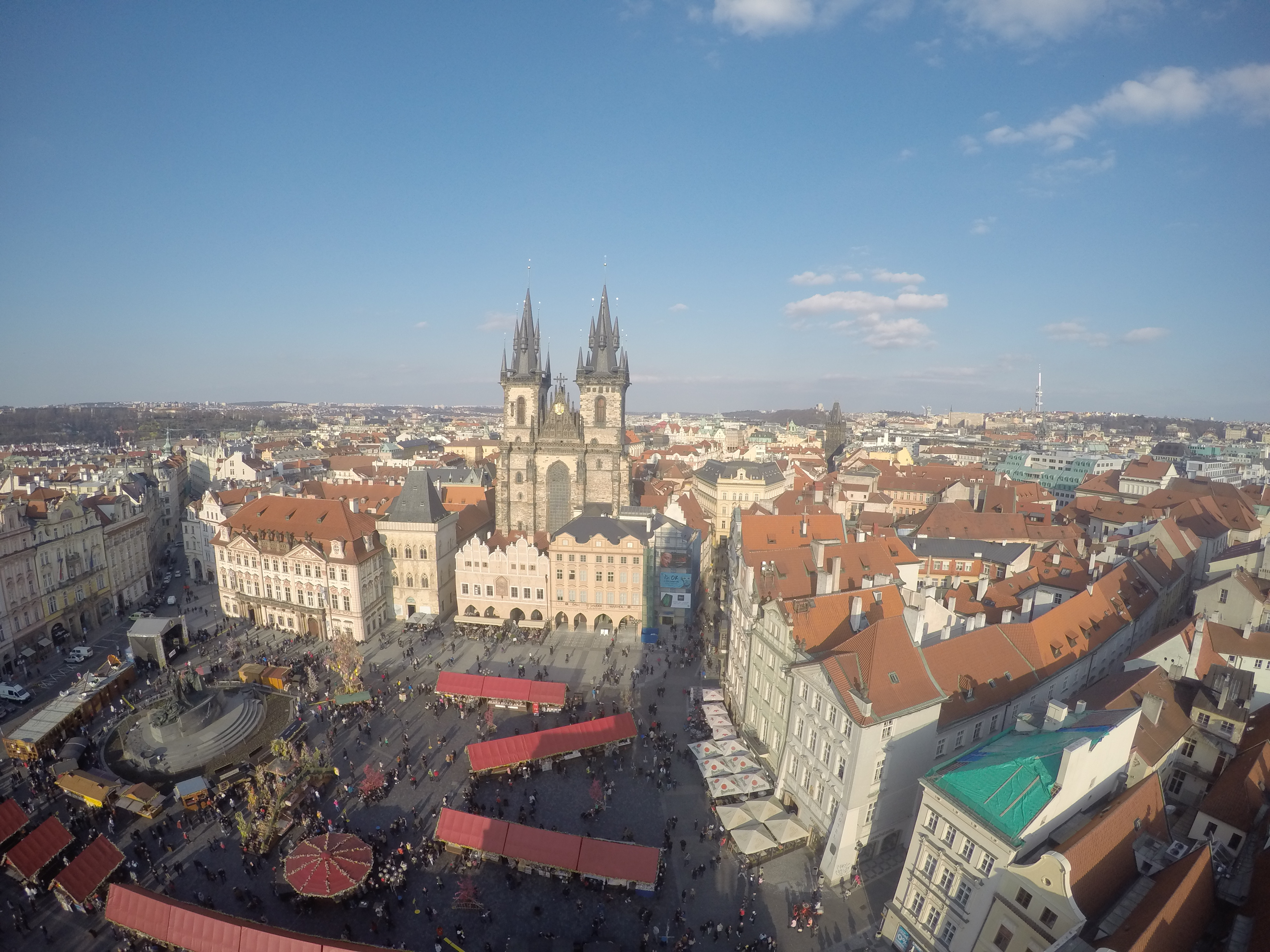 Czech out this view from the top of the Clock Tower