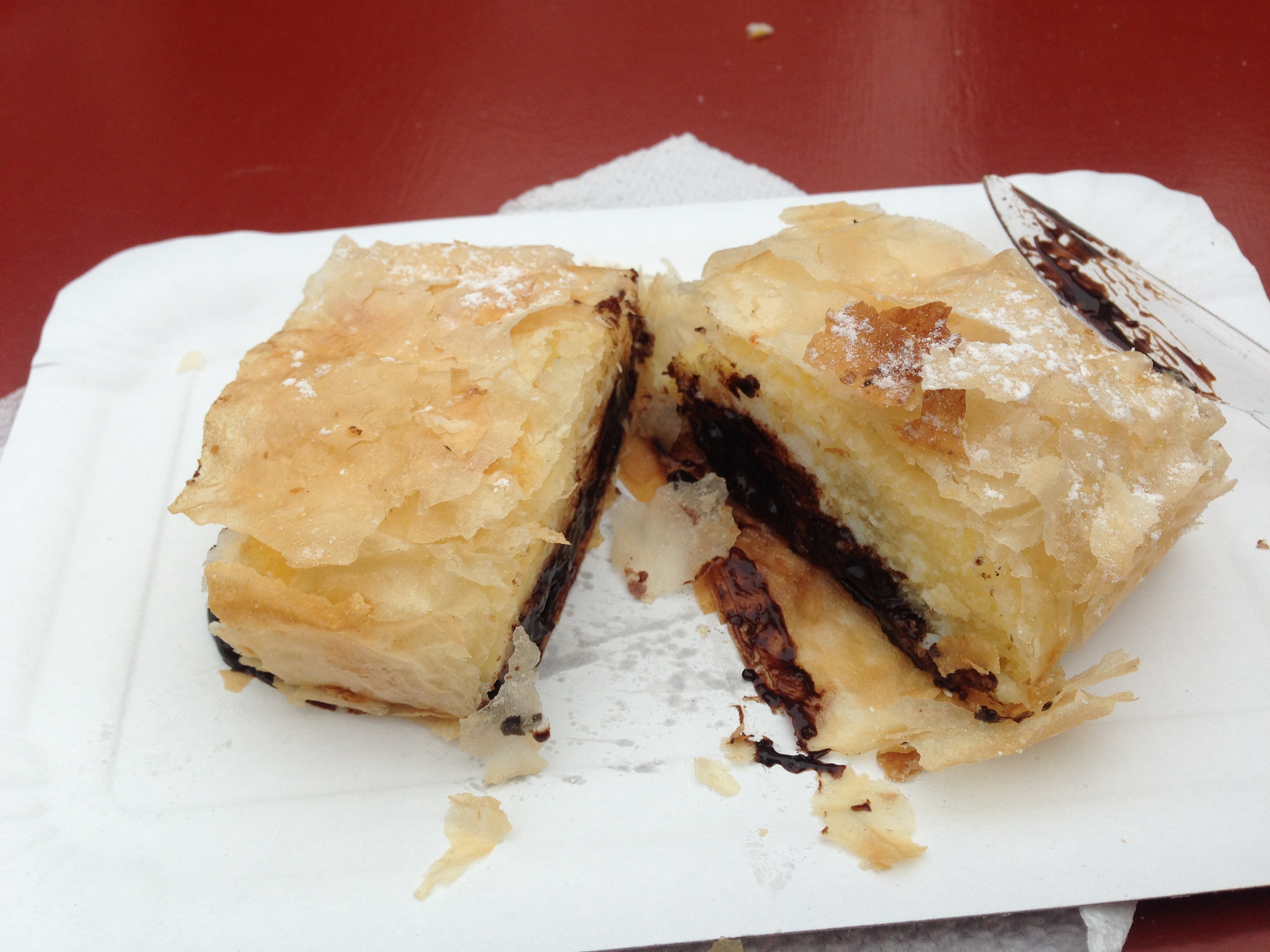 Chocolate and cheese strudel :)
