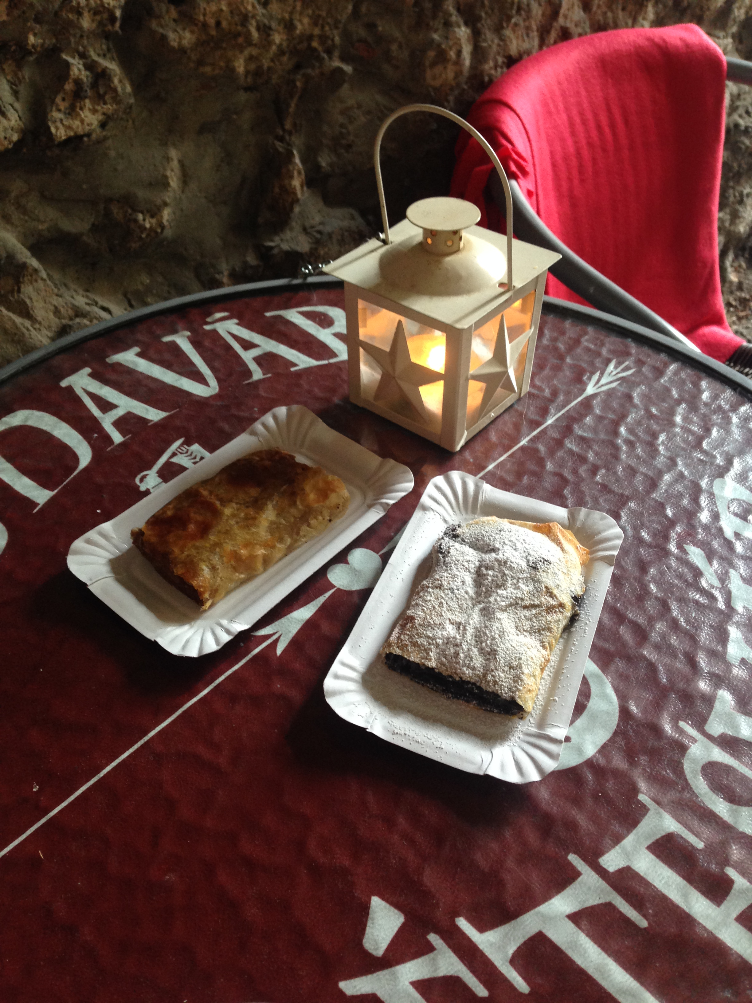 Poppy seed and cabbage strudel we got on the tour. Weird flavors but amazing!