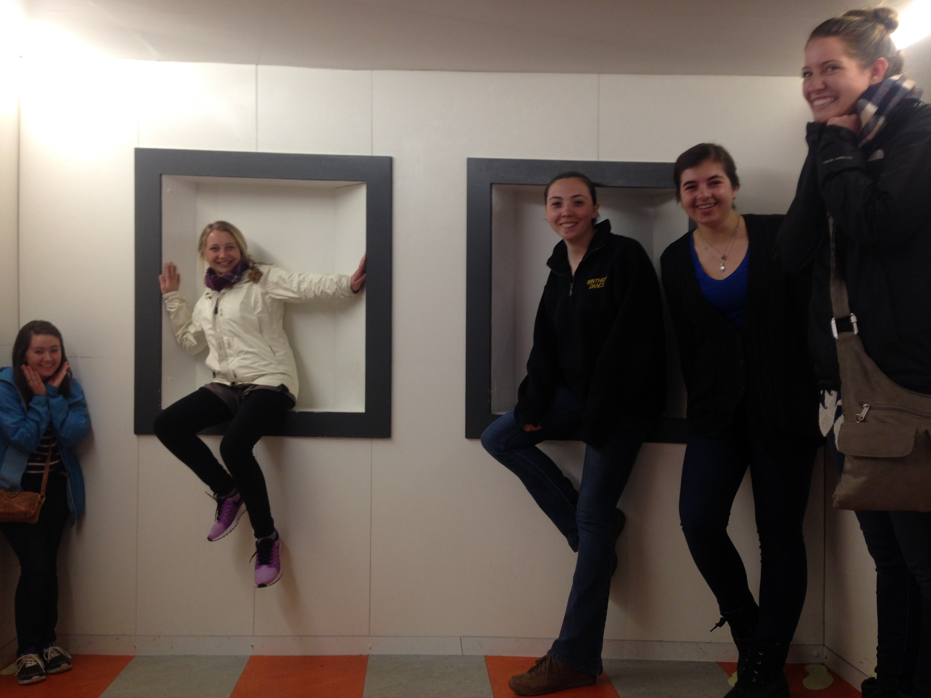 The Ames Room with the squad