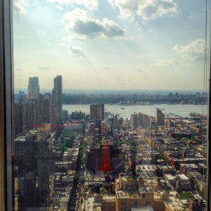 The views from the 38th floor