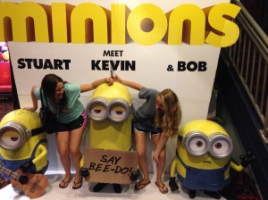 After Me, Earl and The Dying Girl, we had to get on this photo op with the minions!
