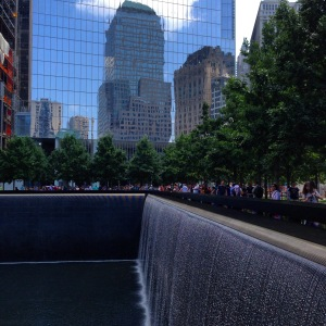 The 9/11 Memorial fountain