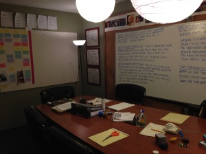 That looks excatly like the writer's room from Mad Men